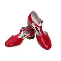 Туфли народные полуоткрытые (красные)
