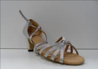 Туфли для бальных танцев, каблук 5 см (серый)