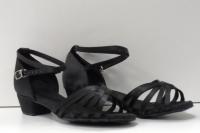 Туфли для бальных танцев, каблук 3 см (черный)
