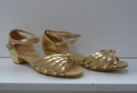 Туфли для бальных танцев, каблук 3 см (золото)