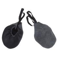 Полупальцы (получешки) для гимнастики, кожа (черный)