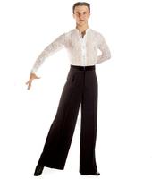 Брюки для бальных танцев с атласным поясом Дали
