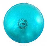 Мяч для художественной гимнастики FIG голубой, 18 см, 400 г