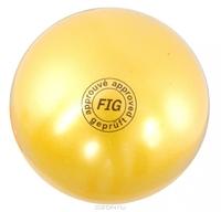 Мяч для художественной гимнастики FIG желтый, 18 см, 400 г