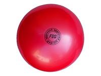 Мяч для художественной гимнастики FIG красный, 18 см, 400 г
