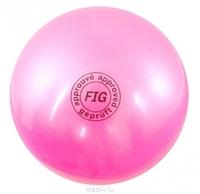 Мяч для художественной гимнастики FIG розовый, 18 см, 400 г