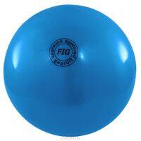 Мяч для художественной гимнастики FIG синий, 18 см, 400 г